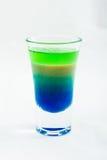 Cocktail affettato del colpo isolato su fondo bianco Fotografia Stock Libera da Diritti