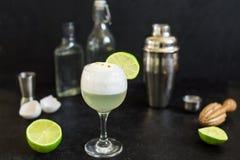Cocktail aigre de Pisco image stock