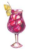 Cocktail alcoólico ilustração royalty free