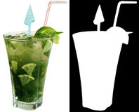 Cocktail alcoólico Bacardi Mojito Imagem de Stock