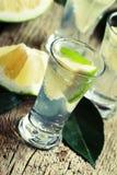 Cocktail alcoólico com tônico da gim e toranja do verde, vintage fotografia de stock