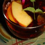 Cocktail alcoólico de cima de foto de stock