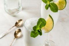 Cocktail alcoólico italiano Sgroppino fotos de stock royalty free