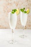 Cocktail alcoólico italiano Sgroppino fotos de stock