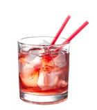 Cocktail alcoólico vermelho foto de stock