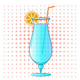 Cocktail. Alcohol illustration  with orange Royalty Free Stock Photography