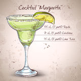Cocktail alcohol Margarita Stock Photography