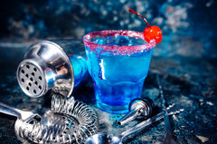 Cocktail alcoholic drink with fruits and vodka. Royalty Free Stock Images