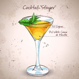 Cocktail alcoholic Stinger Royalty Free Stock Photos