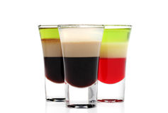 Cocktail alcolici stratificati Immagine Stock