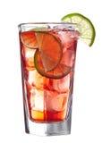 Cocktail alcolico rosso Fotografia Stock Libera da Diritti