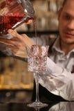 Cocktail alcoolique frais rouge Cocktail démodé images libres de droits