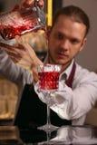 Cocktail alcoolique frais rouge Cocktail démodé photographie stock libre de droits