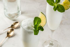Cocktail alcoolique italien Sgroppino Image stock