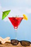 Cocktail alla spiaggia Fotografia Stock Libera da Diritti
