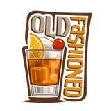 Cocktail altmodisch lizenzfreie abbildung