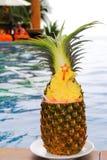 Cocktail in ananas fresco Immagine Stock Libera da Diritti