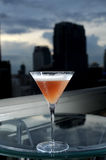 Cocktail And Town Stock Image