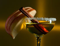 Cocktail with apple Stock Images