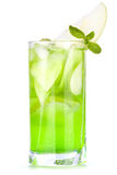 Cocktail with apples and mint Royalty Free Stock Images