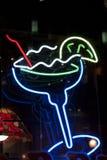 Cocktail au néon Photo stock