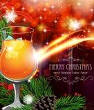 Cocktail auf Weihnachtshintergrund Stockfotos