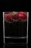 Cocktail avec des fraises Images libres de droits