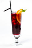 Cocktail avec l'orange Photographie stock libre de droits