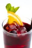 Cocktail avec l'orange photographie stock