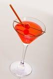 Cocktail avec la cerise Image libre de droits