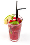 Cocktail avec la chaux photographie stock libre de droits