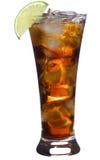 Cocktail avec la limette et le kola Photographie stock