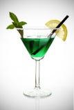 Cocktail avec la menthe et le citron Photographie stock libre de droits