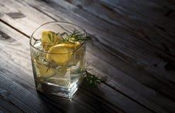 Cocktail avec le genièvre photographie stock libre de droits
