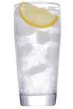 Cocktail avec le genièvre et le citron avec de la glace photo libre de droits