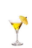 Cocktail avec le parapluie Photo libre de droits