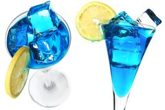 Cocktail azuis Imagem de Stock