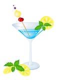 Cocktail azul Imagem de Stock Royalty Free