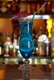 Cocktail azul da lagoa Fotos de Stock Royalty Free