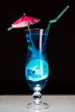 Cocktail azul da lagoa Fotografia de Stock