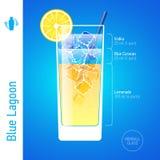 Cocktail azul da lagoa Imagens de Stock