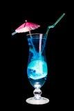 Cocktail azul da lagoa isolado Fotos de Stock Royalty Free