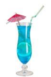Cocktail azul da lagoa isolado Imagens de Stock Royalty Free