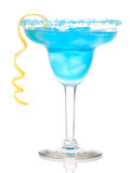Cocktail azul de Margarita Fotos de Stock