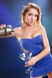 Cocktail azul do kamikaze Imagens de Stock Royalty Free