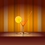 Cocktail with background Royalty Free Stock Photos