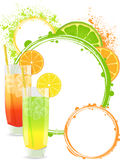 Cocktail background Royalty Free Stock Photos