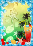Cocktail background Stock Image