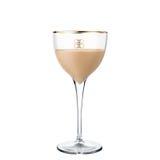 Cocktail Baileys d'alcool d'isolement sur le fond blanc Photographie stock libre de droits
