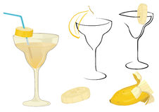 cocktail with banana Stock Images